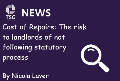 Cost of Repairs The risk to landlords