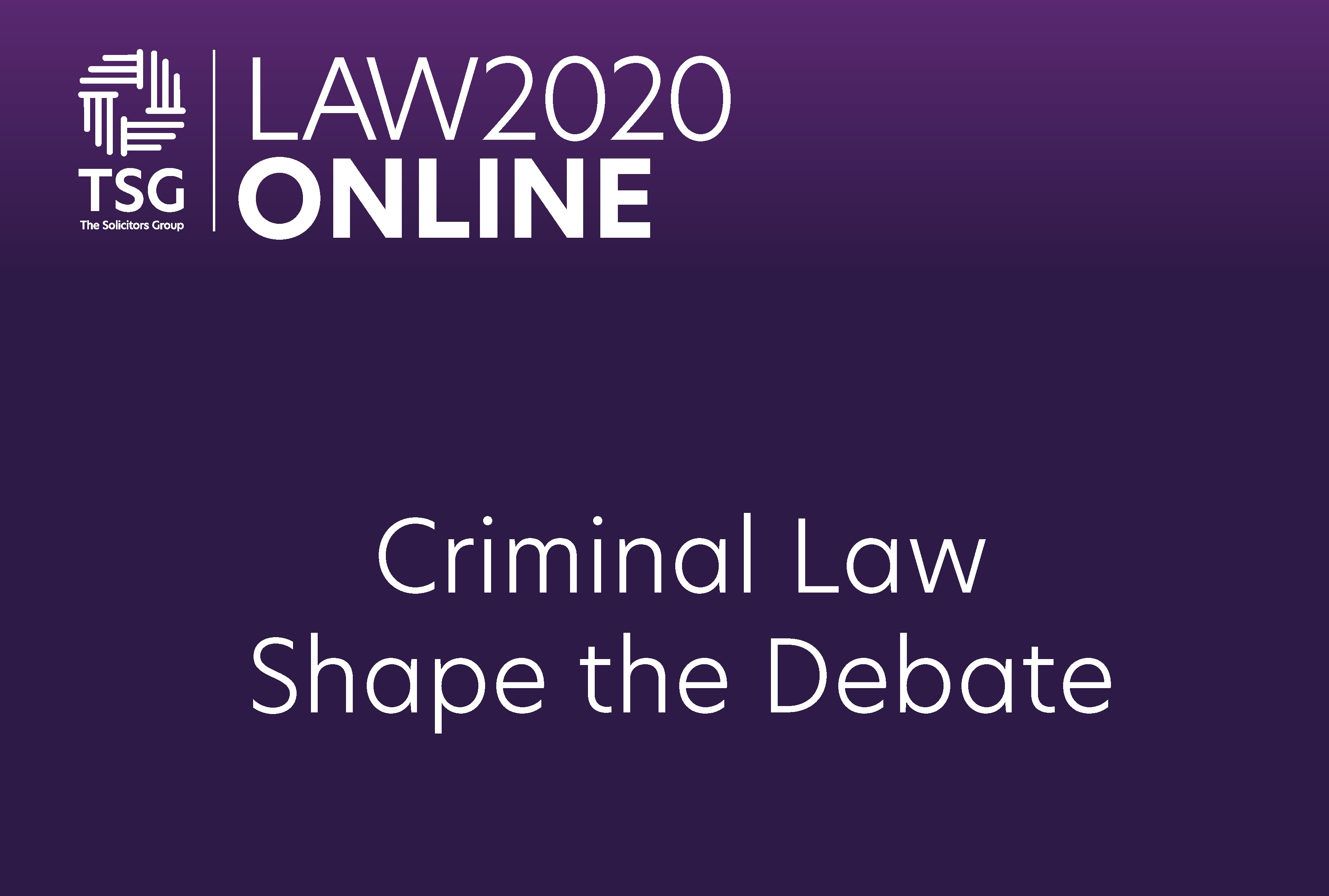 Criminal Law Shape the Debate