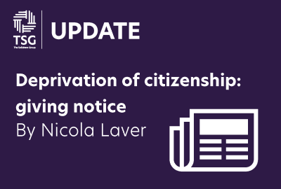 Deprivation of citizenship giving notice
