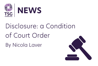 Disclosure a Condition of Court Order