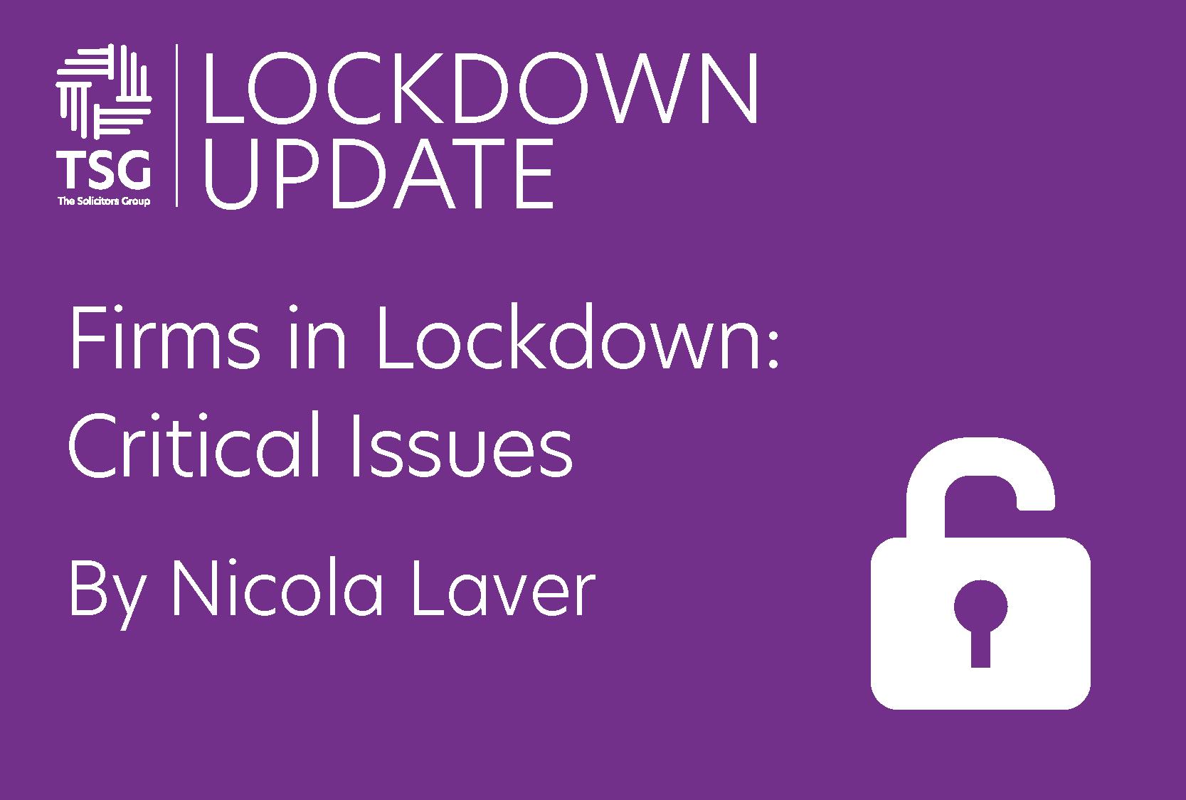 Firms in lockdown