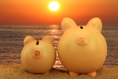 Pigs looking at sun 400