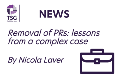 Removal of P Rs lessons from a complex case