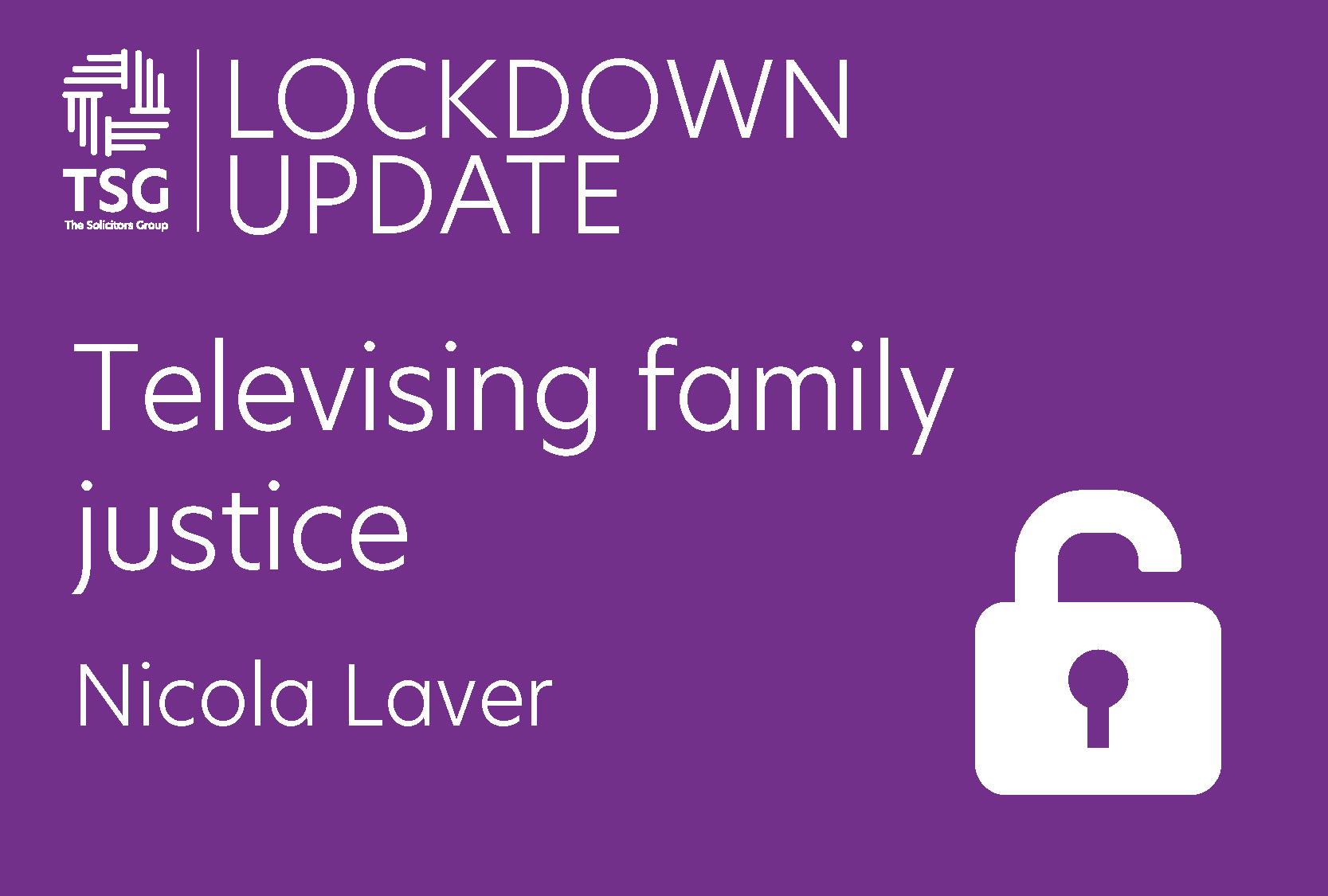 Televising family justice