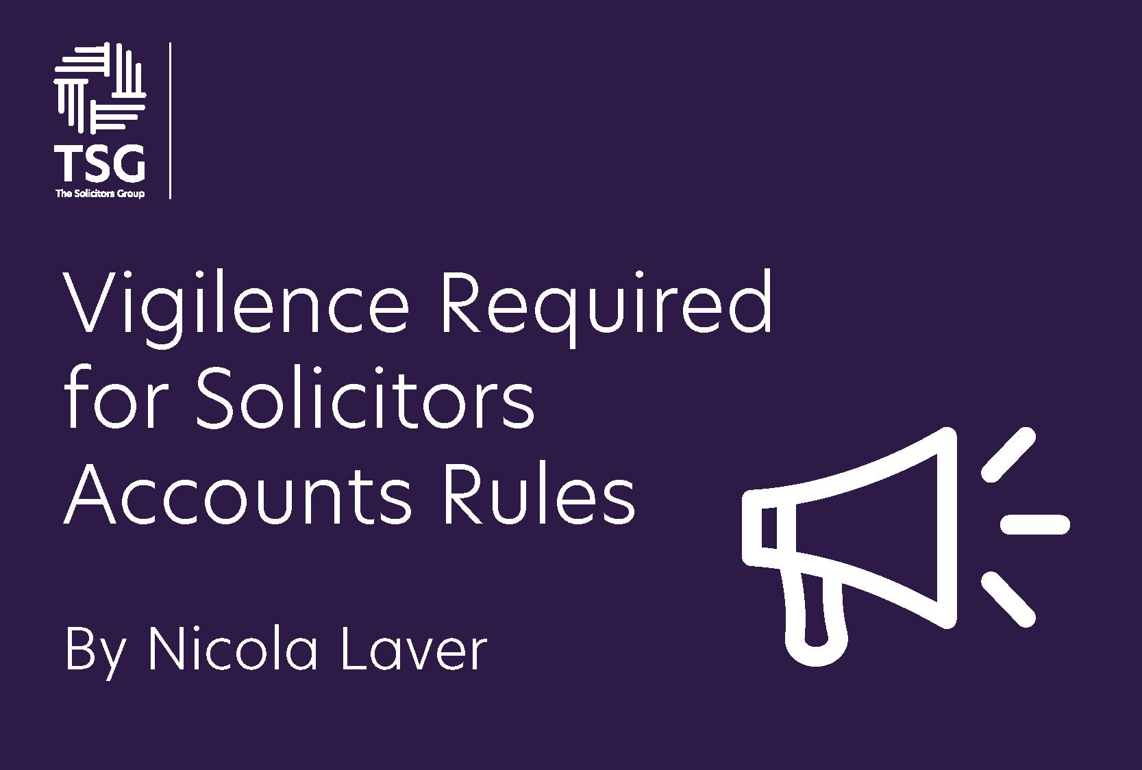 Vigilance for accounts rules